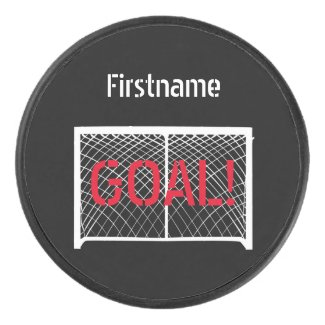 Hockey goal - Black Personalized Ice Hockey Puck