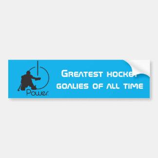 Hockey Goalie bumper sticker