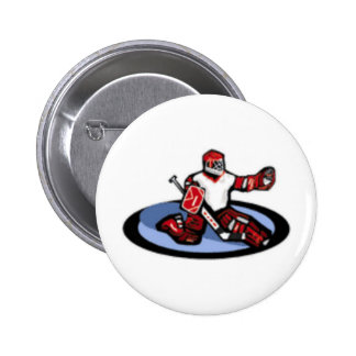 Hockey Goalie 2 Inch Round Button