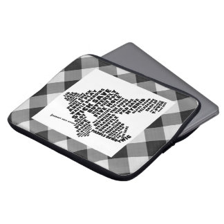 Hockey Goalie Calligram Laptop Sleeve