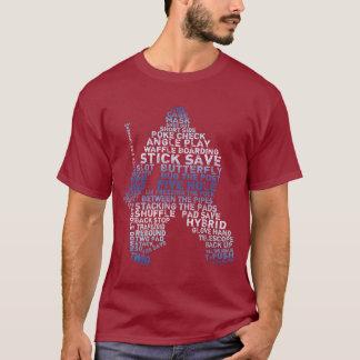 Hockey Goalie Calligram T-Shirt