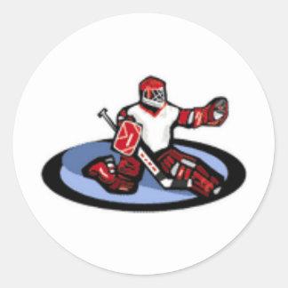 Hockey Goalie Classic Round Sticker
