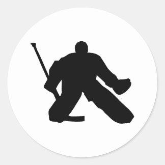 Hockey - Goalie Classic Round Sticker
