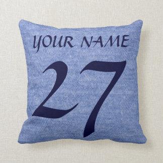 Hockey Goalie Dad Customizable Name Number Pillow