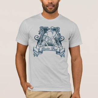 Hockey Goalie Dad T-Shirt with Back Print