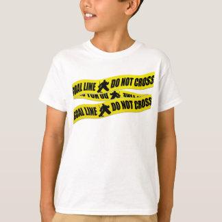 Hockey Goalie Line Do Not Cross T-Shirt