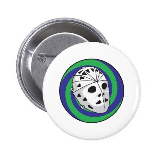 hockey goalie mask pinback buttons