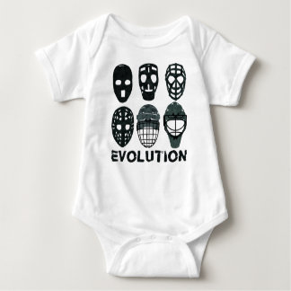 Hockey Goalie Mask Evolution Baby Bodysuit