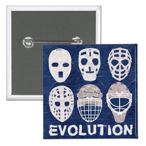 Hockey Goalie Mask Evolution Buttons