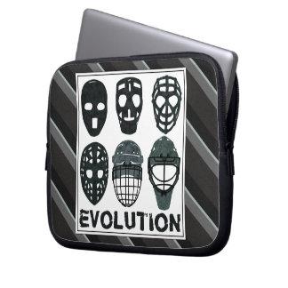 Hockey Goalie Mask Evolution Computer Sleeve