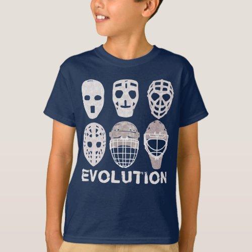 Hockey Goalie Mask Evolution Kids Tee