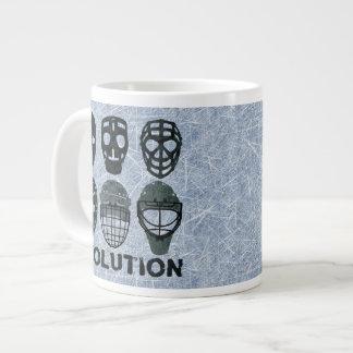 Hockey Goalie Mask Evolution Large Coffee Mug