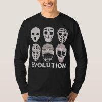 Hockey Goalie Mask Evolution Men's Tee