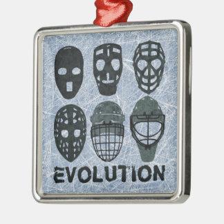 Hockey Goalie Mask Evolution Metal Ornament