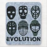 Hockey Goalie Mask Evolution Mouse Pad