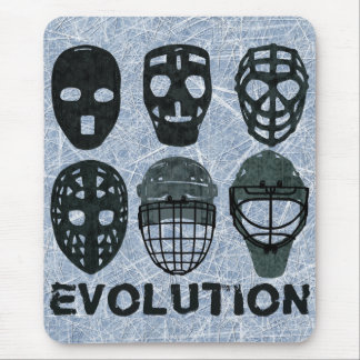 Hockey Goalie Mask Evolution Mouse Pad