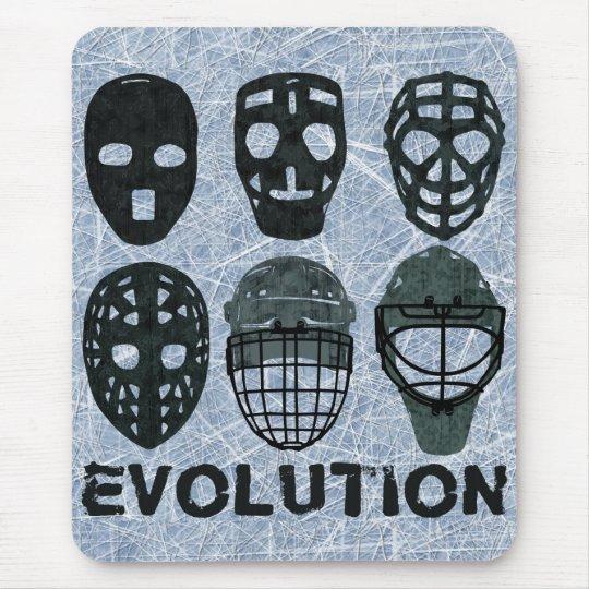 Hockey Goalie Mask Evolution Mouse Pad Zazzle Com
