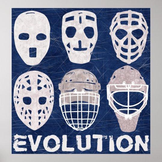 Hockey Goalie Mask Evolution Poster Zazzle Com