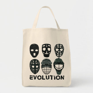 Hockey Goalie Mask Evolution Tote Bag