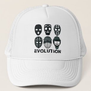 9481cdd6a6820 Hockey Goalie Mask Evolution Trucker Hat