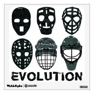 Hockey Goalie Mask Evolution Wall Decal