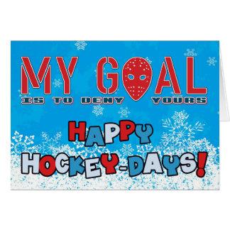 Hockey Goalie Mask Inspirational Christmas Card