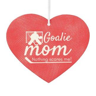 Hockey goalie Mom Air Freshener red