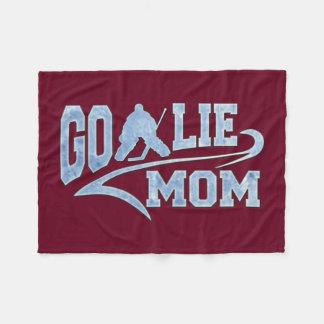 Hockey Goalie Mom Athletic Tail Fleece Blanket