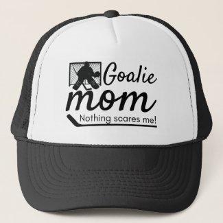 Hockey Goalie Mom cap hat black