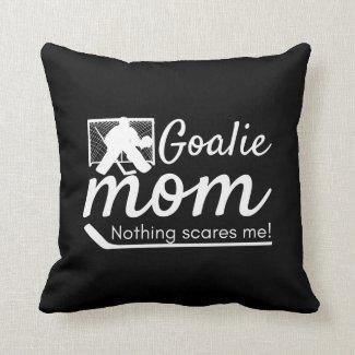 Hockey Goalie Mom pillow black