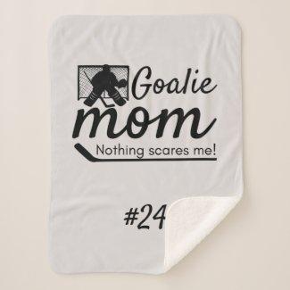 Hockey goalie mom rink gear blanket grey