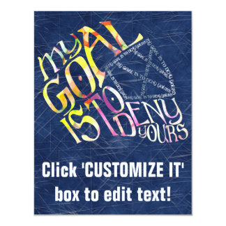 Hockey Goalie My Goal Typography Card