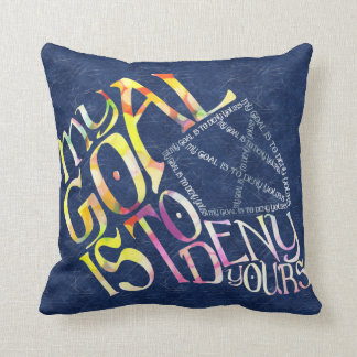 Hockey Goalie My Goal Typography Throw Pillow