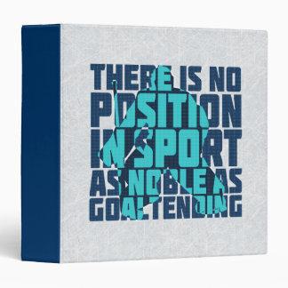 Hockey Goalie Noble Quote Folder