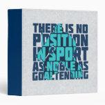 Hockey Goalie Noble Quote Folder Vinyl Binders