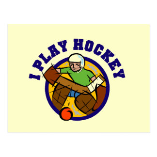 Hockey Goalie T-shirts and Gifts Postcard