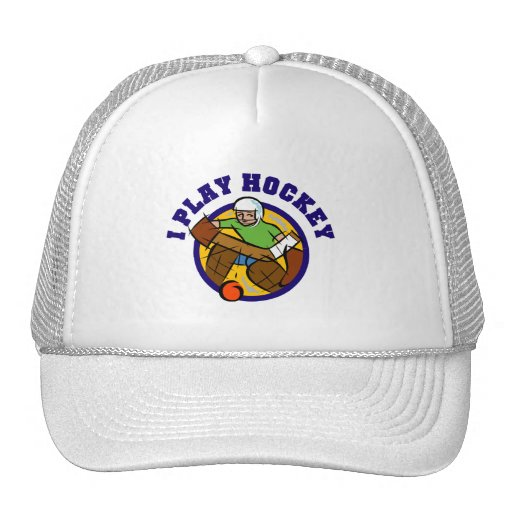 Hockey Goalie T-shirts and Gifts Trucker Hat