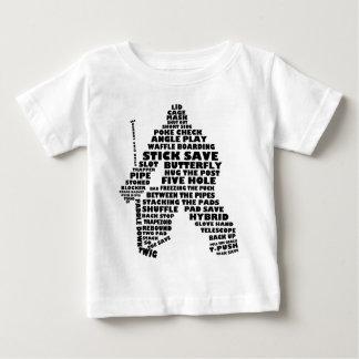 Hockey Goalie Text Art Baby T-Shirt