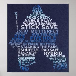 Hockey Goalie Art Wall Decor Zazzle