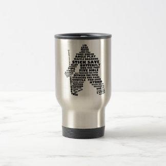 Hockey Goalie Text Art Travel Mug