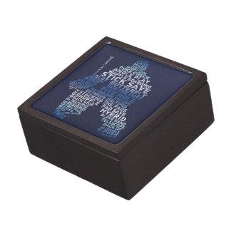 Hockey Goalie Text Art Trinket Box Gift Box
