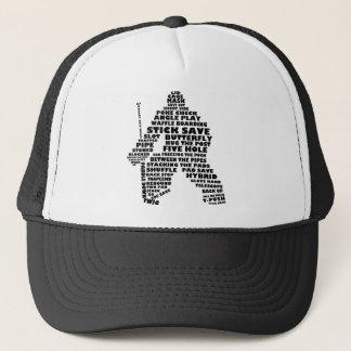 Hockey Goalie Text Art Trucker Hat