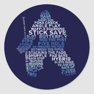 Hockey Goalie Text Stickers