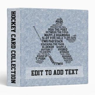 Hockey Goalie Trading Card Album, Customizable 3 Ring Binder