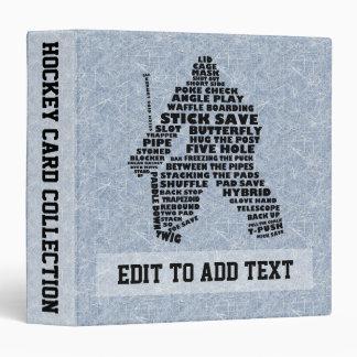 Hockey Goalie Typography Card Album, Customizable Binder
