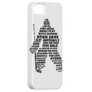 Hockey Goalie Typography Cell Phone Case iPhone 5 Cover