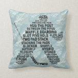 Hockey Goalie Typography Cushion Throw Pillows