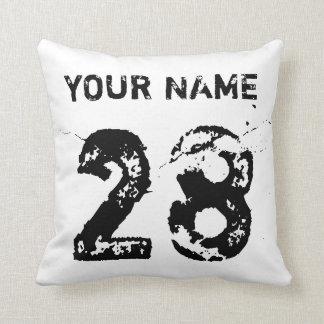 Hockey Goalie Typography Customizable Pillow