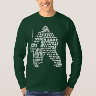 Hockey Goalie Typography Long Sleeved T Shirt