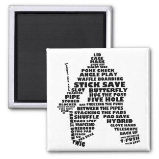Hockey Goalie Typography Magnet